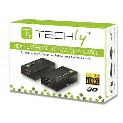 Amplifier HDMI over CAT5 / 6 60 m - Techly - IDATA EXT-E50-1