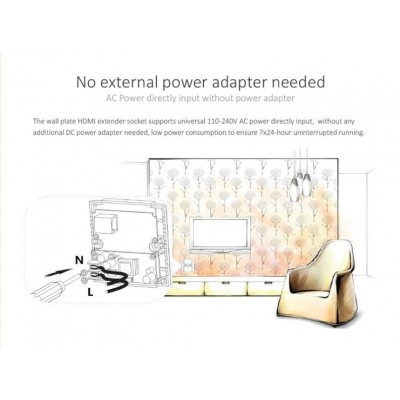 HDMI Extender Wall Plate Full HD by Cat.6/6A/7 max 40m  - Techly - IDATA EXT-E70W-2