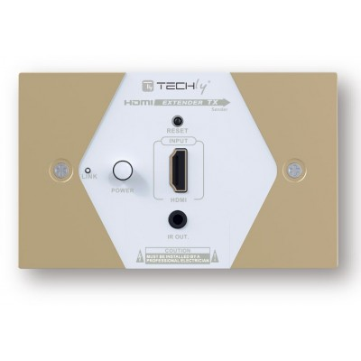 HDMI Extender Wall Plate Full HD by Cat.6/6A/7 max 40m  - Techly - IDATA EXT-E70W-4