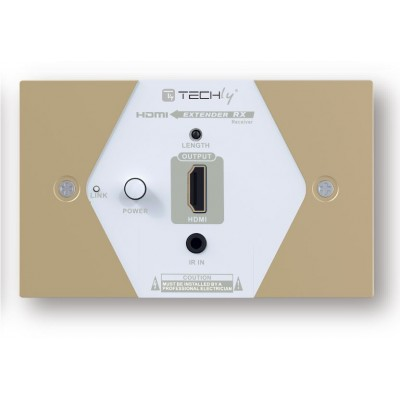 HDMI Extender Wall Plate Full HD by Cat.6/6A/7 max 40m  - Techly - IDATA EXT-E70W-5