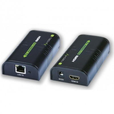 HDMI Extender on Cat.6 cable POE 120m - Techly - IDATA EXTIP-373P-1