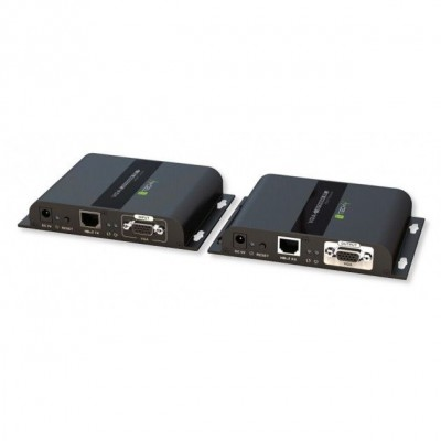 Extender VGA HDbitT with Audio by Cat.6 cable POE up to 120m - Techly Np - IDATA EXTIP-383VP-1