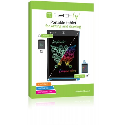 """8.5"""" LCD Graphic Tablet for Multicolor Writing and Drawing - Techly - IDATA GT-88-1"""