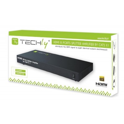 Splitter / Amplifier HDMI 1 in 8 out Cat 5 - Techly - IDATA HDMI-8C5-1