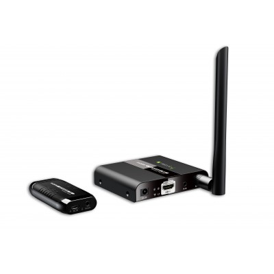 HDMI Extender Wireless 50m compact size - Techly - IDATA HDMI-WL50D-1