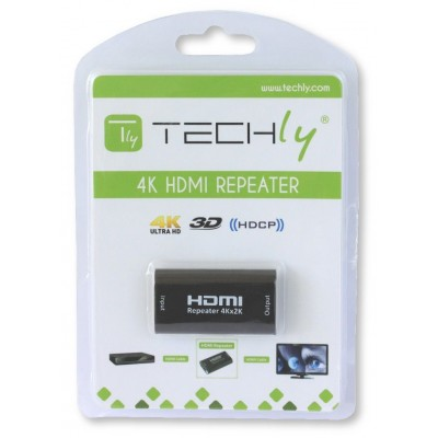 HDMI 2.0 4K Repeater YUV 4:4:4 extends up to 40m - Techly - IDATA HDMI2-RIP4KT-1