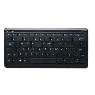 Compact Wireless 2.4G Keyboard Black KB-200 - Techly - IDATA KB-200W-1
