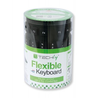 Flexible Silicone Keyboard IP67 - Techly - IDATA KB-R109L-1