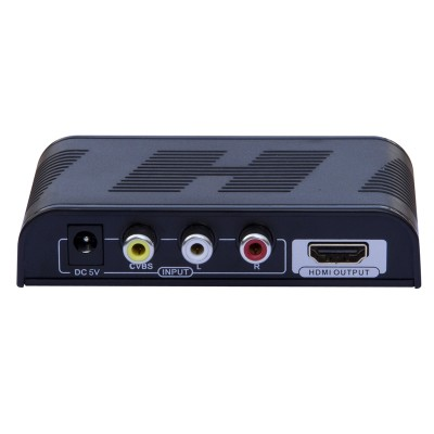 Composite Converter S-Video + Stereo Audio to HDMI with scaler - Techly - IDATA SPDIF-6E2-1