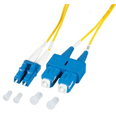 Fiber Optic Cable SC/LC 9/125 Singlemode 3m Diameter 1,2mm OS2 - Techly Professional - ILWL OS212-LCSC-030T-1