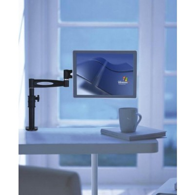 "13""-27"" Desk Stand for Monitor Long Arm Tilt - Techly - ICA-LCD 502BK-4"