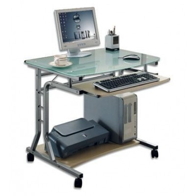 Compact Desk For Pc Metal Glass With Wheels Computer Desks Office Furniture Office