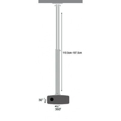 Professional Projector Ceiling Stand Extension 110-197cm - Techly - ICA-PM 104XL-3