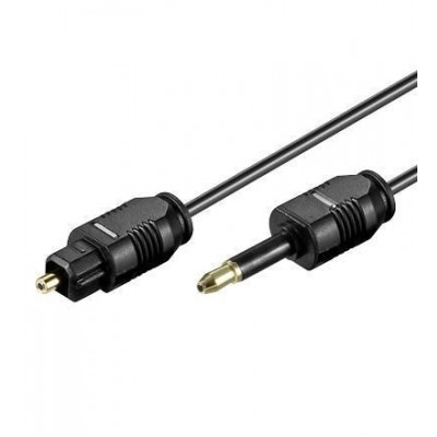 Optical Digital Audio Cable Toslink to Mini Plug 2m - Techly - ICOC DAC-020-1