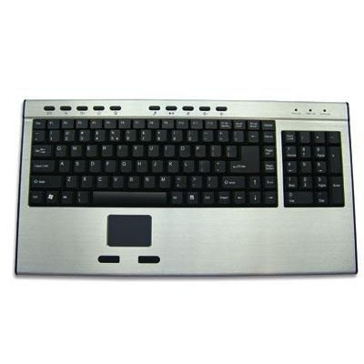 Aluminum Keyboard with Touchpad and Numeric Keypad - Techly - IDATA KB-223T-2