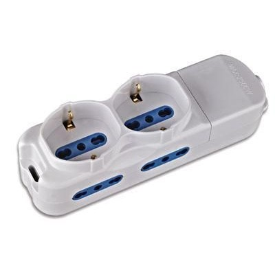 Power Strip 4 Italian / 2 Schuko - Techly - IUPS-PCP-4I2S-0
