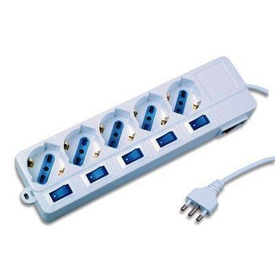 Power Strip 5 Sockets with Switch - Techly - IUPS-PCP-5I-1