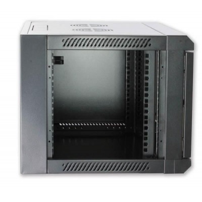 """Wall Rack Cabinet 19"""" D600 9 units to Assemble Black - Techly Professional - I-CASE FP-3009BKTY-2"""