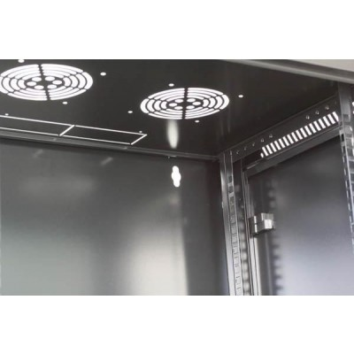"""Wall Rack Cabinet 19"""" D600 9 units to Assemble Black - Techly Professional - I-CASE FP-3009BKTY-7"""