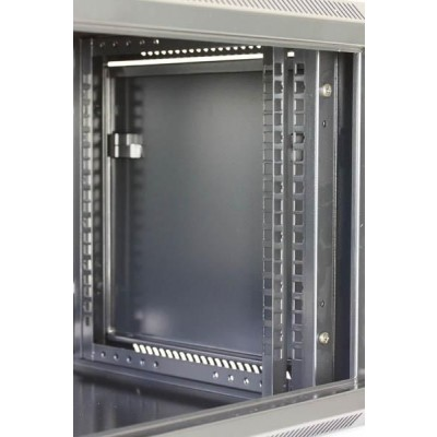 """Wall Rack Cabinet 19"""" D600 9 units to Assemble Black - Techly Professional - I-CASE FP-3009BKTY-5"""