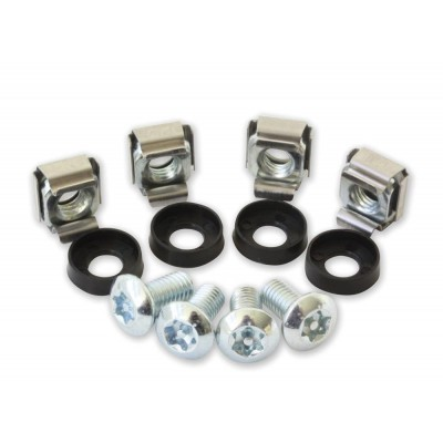 Kit of 50 Torx T30 screws. 50 Nuts and 50 Washers for Rack Mounting - Techly Professional - I-CASE MOUNT-T30-1