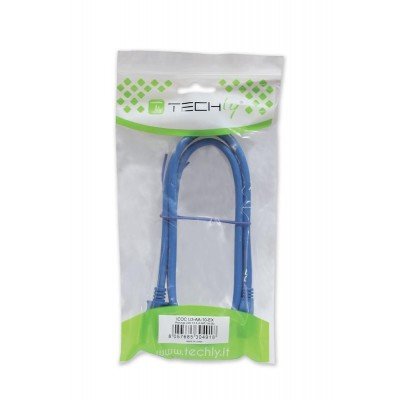 USB 3.0 Superspeed Cable A / Micro B 3m Blue - Techly - ICOC MUSB3-A-030-1