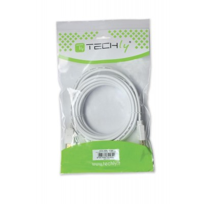 Cavo HDMI High Speed 19 pin M/M 3.0 m bianco - Techly - ICOC HDMI-W-030-1