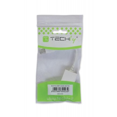 Mini DisplayPort (Thunderbolt) 1.2 / HDMI Adapter 15cm White - Techly - IADAP MDP-HDMIF12-1
