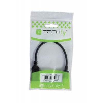 USB2.0 OTG Cable A Female / Micro B Male 0.2 m - Techly - ICOC UOTG-194-1