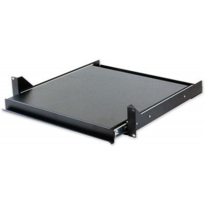 Pull-out Shelf for Keyboard Rack Black Gate - Techly Professional - I-CASE TRAY-5-BK-2