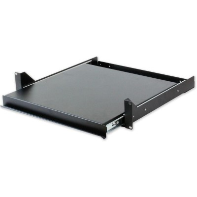 Pull-out Shelf for Keyboard Rack Black Gate - Techly Professional - I-CASE TRAY-5-BK-1