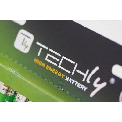 Blister 1 High Power Battery Alkaline 6LR61 9V - Techly - IBT-KAL-LR61T-2