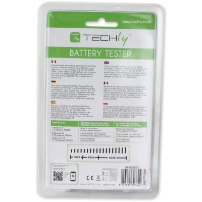 Universal Tester for Digital Batteries - Techly - IBT-TESTER3-3