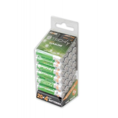 Multipack 24 Batteries High Power Mini Stilo AAA Alkaline LR03 1.5V - Techly - IBT-KAL-LR03-B24T-2