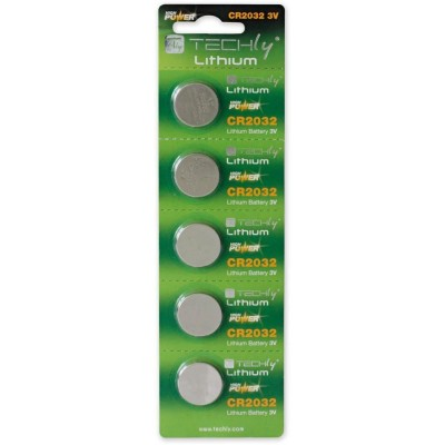 Lithium Button Batteries CR2032 (set of 5 pcs) - Techly - IBT-KCR2032-1