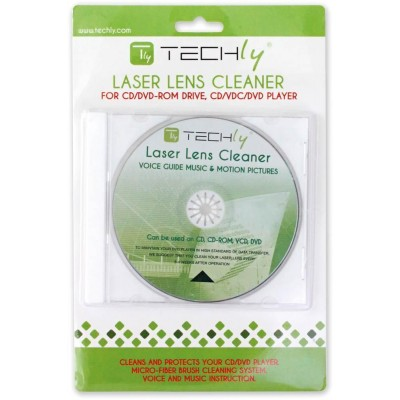 Laser Lens Cleaner for DVD Recorder and CD Player - Techly - ICA-CD-DVD-1