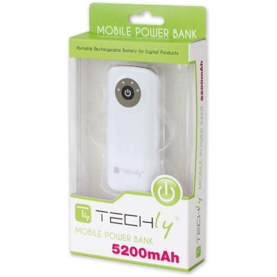 USB Battery Charger Power Bank for Tablet Smartphone 5200 mAh - Techly - I-CHARGE-5200TY-1