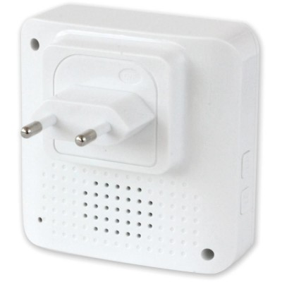 Wireless Doorbell up to 300m with Lithium Battery and Remote Control - Techly - I-BELL-RING02-6