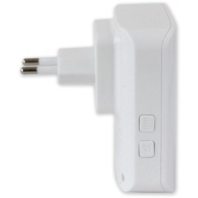 Wireless Doorbell up to 300m with Lithium Battery and Remote Control - Techly - I-BELL-RING02-4
