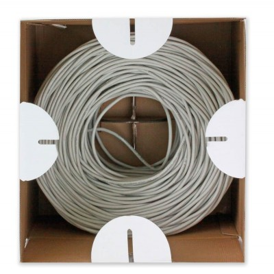 U/UTP Hank, 4 pairs, Cat.5E Copper Cable 305m Solid Grey - Techly Professional - ITP7-UTP-IC-4