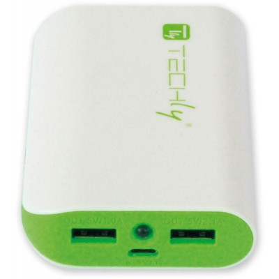 Power Bank 6000mAh USB Battery Charger for Smartphone Tablet - Techly - I-CHARGE-6000TY-2