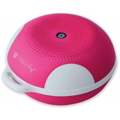 Portable Bluetooth Speaker Wireless Sport MicroSD Pink - Techly - ICASBL03-1