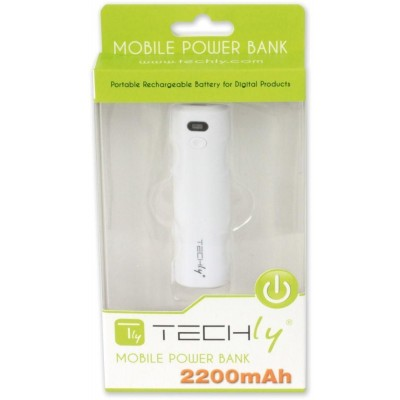 Emergency Battery Charger for Smartphone 2200 mAh USB White - Techly - I-CHARGE-2200TY-6