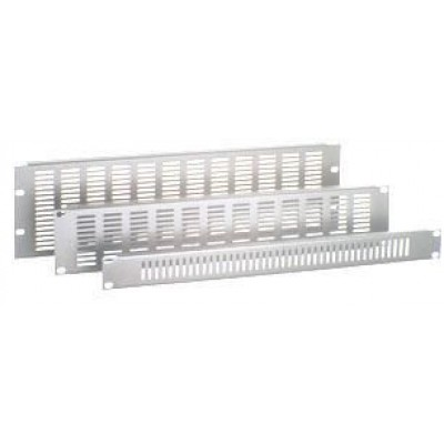 Panel Ventilated Closure 2 units Grey - Techly Professional - I-CASE BLANK-2V-1