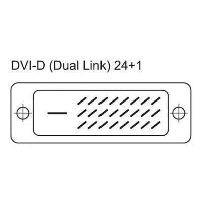 Dual Link DVI digital (DVI-D) with ferrite 3m - Techly - ICOC DVI-8130F-3