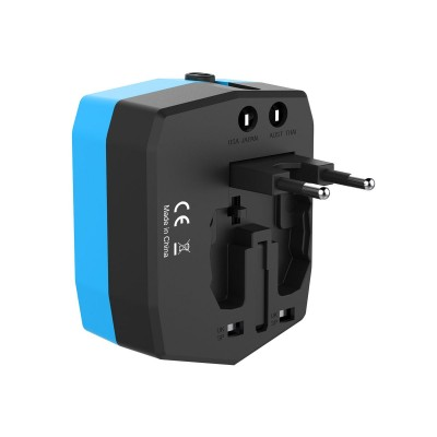 Travel Adapter with PowerBank 3000mAh and 2 USB - Techly Np - IPW-ADAPT3000-2