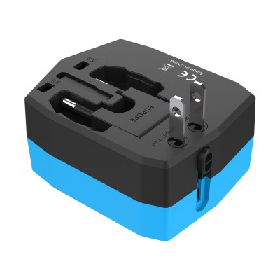 Travel Adapter with PowerBank 3000mAh and 2 USB - Techly Np - IPW-ADAPT3000-4