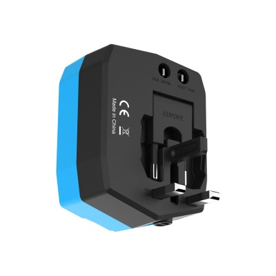 Travel Adapter with PowerBank 6000mAh and 2 USB - Techly Np - IPW-ADAPT6000-1