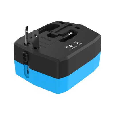 Travel Adapter with PowerBank 6000mAh and 2 USB - Techly Np - IPW-ADAPT6000-3