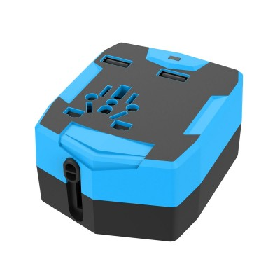 Travel Adapter with PowerBank 6000mAh and 2 USB - Techly Np - IPW-ADAPT6000-6